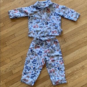 Pottery Barn Kids Flannel Construction Jammies